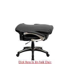 fold up desk chair high back folding black leather executive swivel office chair in