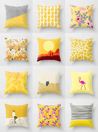 Home Goods Decorative Pillows by Society6 Yellow Throw Pillows Society6 Is Home To Hundreds Of