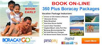 350 book on line boracay vacation packages boracay