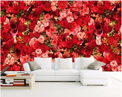 online get cheap red wall murals aliexpress com alibaba group 3d wallpaper custom photo mural hd red rose bouquets of flowers decor painting 3d wall murals wallpaper for walls 3 d