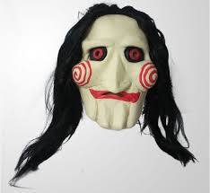 Saw Costume Halloween Costumes Movie Saw Mask Jigsaw Puppet Creepy Scary Mask