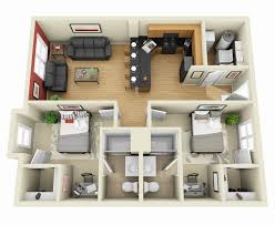 3d Apartment by 35 3d 2 Bedroom Apartment Floor Plans 10 Awesome Two Bedroom
