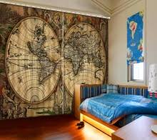 Drapes World Popular Map Window Curtains Buy Cheap Map Window Curtains Lots