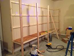 Wooden Shelf Building by How To Build Sturdy Garage Shelves Home Improvement Stack
