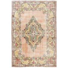 shabby chic antique turkish ghiordes rug for sale at 1stdibs