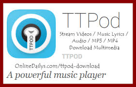 ttpod apk version ttpod apk player for android iphone bb
