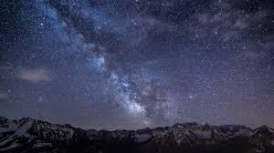 download wallpaper 1600x900 milky way stars mountains night