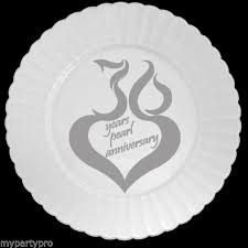 60th anniversary plates 60th anniversary party supplies mod heart plastic dessert cake