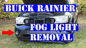 2004 buick rainier fog light housing removal youtube