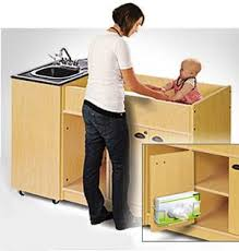 Changing Table With Sink Portable Sinks For Daycare With Abs Basin And Station