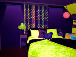 Neon Green Curtains by Beaded Curtains Black Light Reactive Neon Mushrooms Door Beads