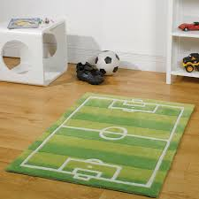 flair kiddy play football pitch rug in green next day select