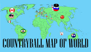 Picture Of A World Map by Creating A Countryball Map Of World 1 Timelapse Duckthatshit