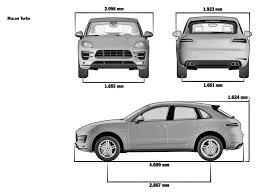porsche macan length porsche macan 2013 smcars car blueprints forum