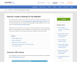 how do i create a sitemap for my website sistrix