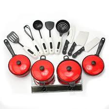 ustensile de cuisine en plastique set jouet enfant ustensiles plastique pour cuisson cuisine casserole