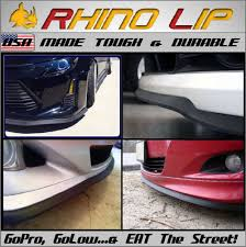 rhino lip front rubber valance bumper chin lip splitter all fit