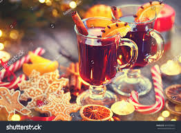 traditional christmas mulled wine drink stock photo 347932922