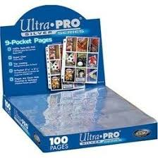 9 pocket pages ultra pro 9 pocket 100ct silver series binder pages up81442