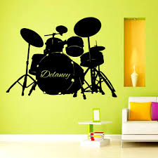 custom wall decals music drums vinyl decal sticker boy custom wall decals music drums vinyl decal sticker boy personalized name home interior design art mural
