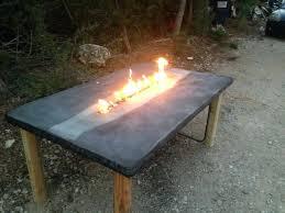 Concrete Patio Table Make Concrete Furniture 5 Remove The Mold And Flip The Table