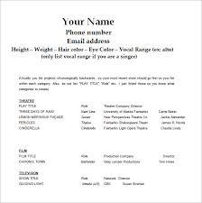 acting resume template free gfyork com