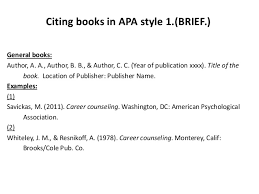 apa format citation book collection of solutions cite articles books in apa style briefbw