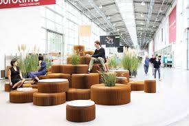 space seating molo have created a variety of public seating areas that are