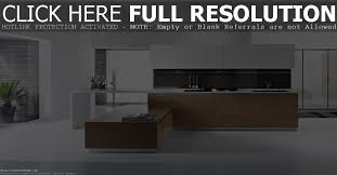 picture of brown hardwood kitchen island with modern white