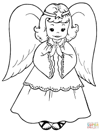 angel coloring page free christmas coloring pages retro angels the