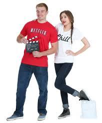 Halloween Costumes Couples Diy Netflix Chill Couples Halloween Costume Halloween