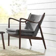Armchair Deals Diamond Mid Century Modern Grey Fabric Upholstered Club Chair With