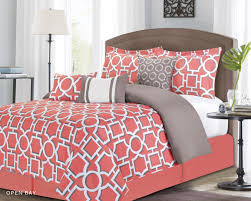 Down Comforter Color Bedroom Interesting Decorative Bedding With Comfortable Coral