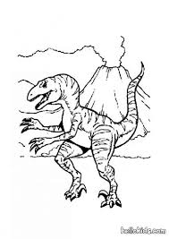 allosaurus and volcano coloring pages hellokids com