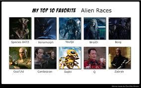 Top Ten Memes - top ten alien races meme by dragonlordrynn on deviantart