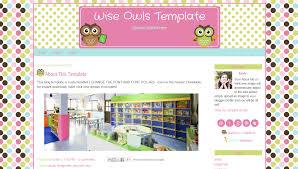 teacher blog templates pink owl design for blogger wise owls