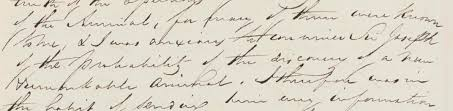 monster writing paper the monster of massachusetts kew photo of an extract from a letter from francis boott to sir joseph banks