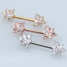 gold piercing rings images Silver gold rose gold 316l stainless steel straight cz zircon jpg