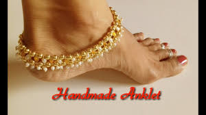 diy how to make anklets at home silk thread jewellery