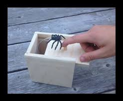 Monster In A Box Halloween Prop by Amazon Com Hilarious Scare Box Spider Prank Wooden Scarebox