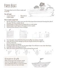How To Make Boat From Paper - paper boat activity collins australia collins