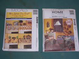 set of 2 vtg mccalls 3209 3142 home decorating curtain patterns