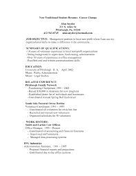 Changing Careers Resume Samples by Resume When Changing Careers Free Resume Example And Writing