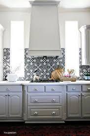 classic kitchen backsplash gray kitchen cabinets with black and white backsplash