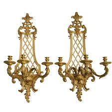 french style wall lights pair large french gilt bronze regence style wall sconces early 20thc