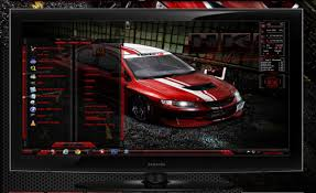free download themes for windows 7 of car hks evo red for windows 7 themes free windows 7 visual styles
