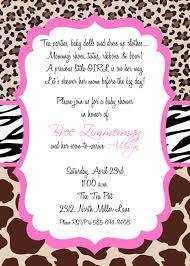 cheetah print baby shower invitations theruntime com