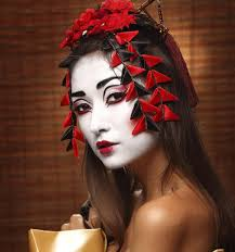 easy diy makeup ideas to get the perfect geisha look