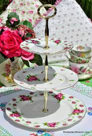 royal albert new country roses gold gilded plates 3 tier cake stand