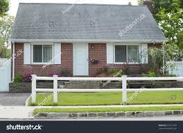 suburban home brick bungalow style house stock photo 676277956